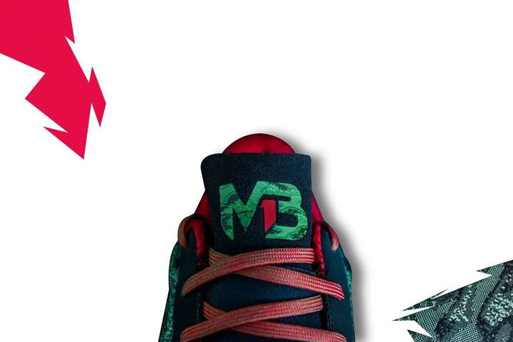 LaMelo Ball's signature shoe, the Melo Ball 1 (MB1) - tongue view