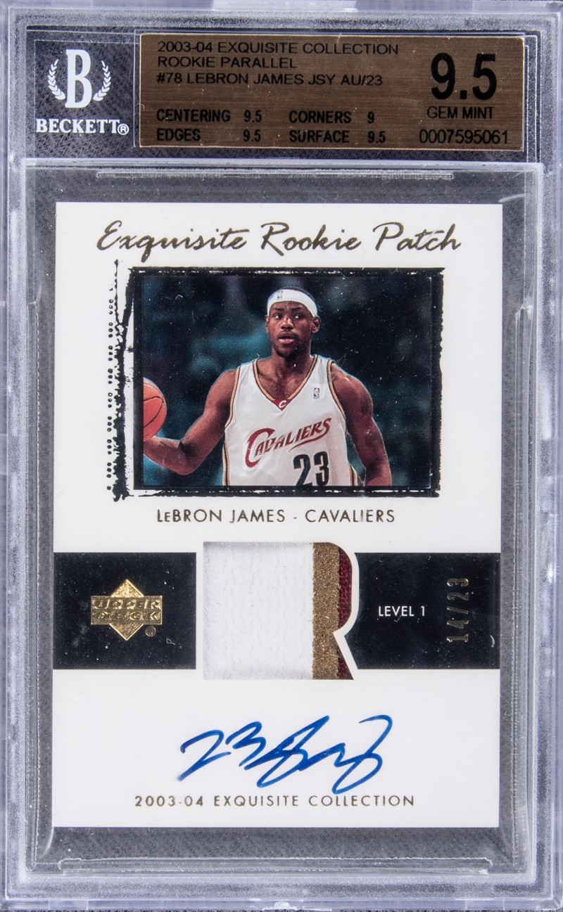 LeBron James 2003 Upper Deck Patch Parallel rookie basketball card