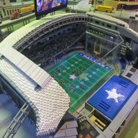 Lego model of Dallas Cowboys AT&T Stadium