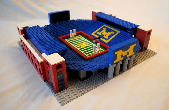 Lego model of Michigan Stadium (otherwise known as The Big House)