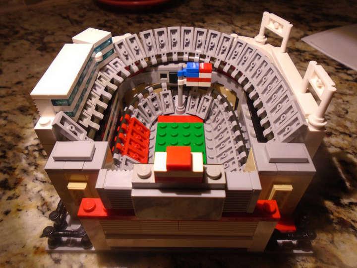 Lego model of Ohio State Buckeyes' Ohio Stadium otherwise known as The Horseshoe