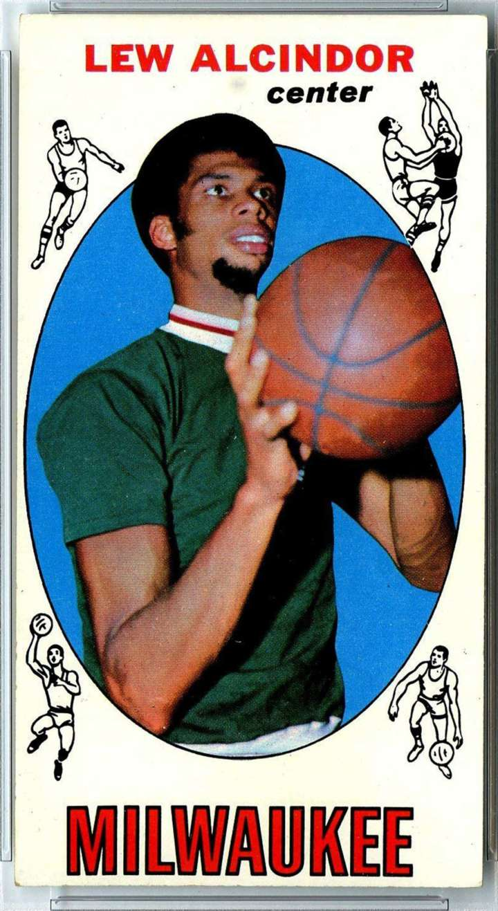Lew Alcindor 1969 Topps rookie basketball card