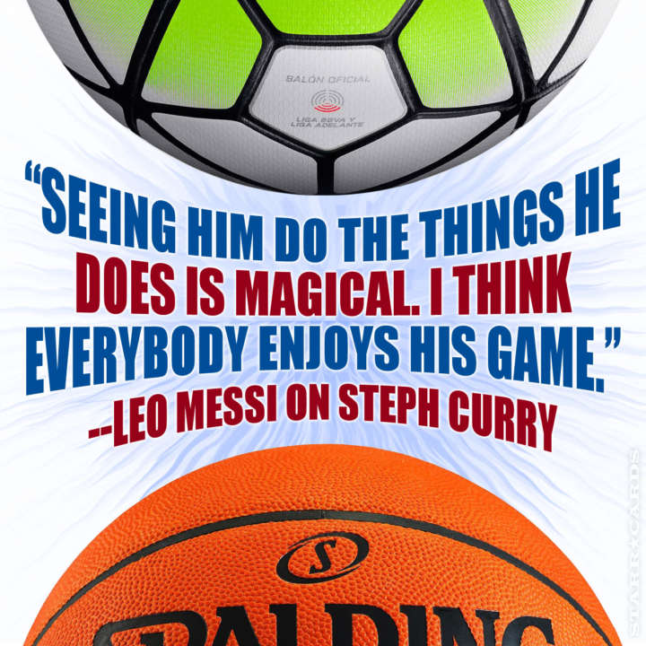 Lionel Messi quote on Stephen Curry