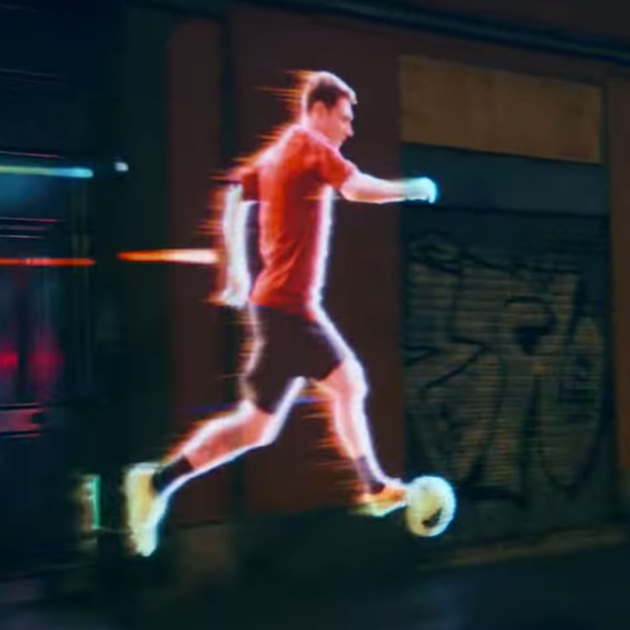 Lionel Messi running in Barcelona in his new Adizero F50 boots