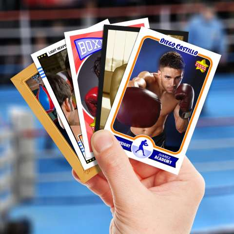 Make your own boxing card with Starr Cards.