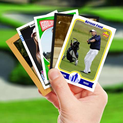 Make your own golf card with Starr Cards.