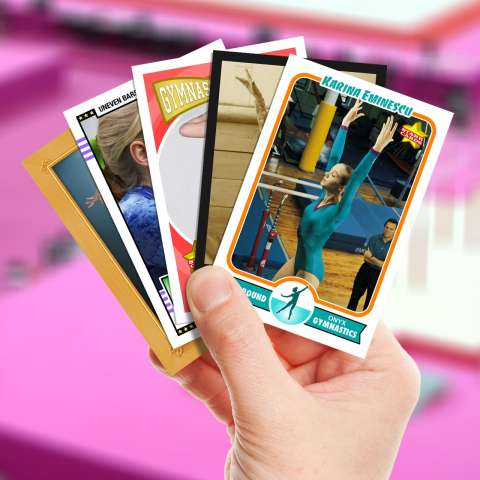 Make your own gymnastics card with Starr Cards.