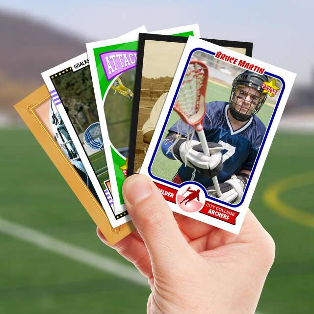 Make your own lacrosse card with Starr Cards.