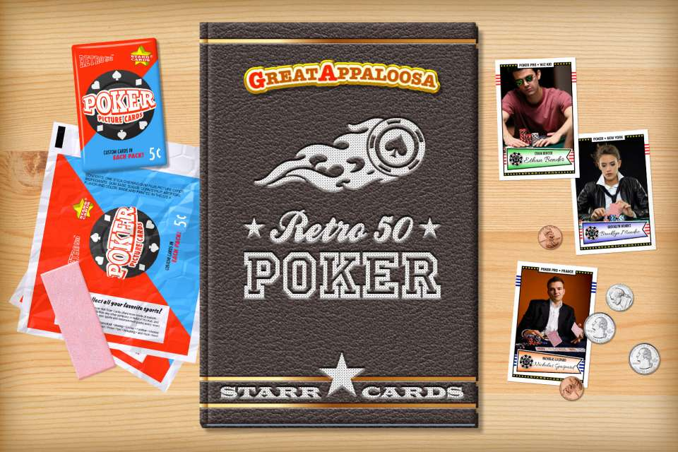 Make your own retro poker card with Starr Cards.