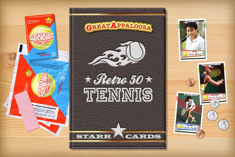 Make your own retro tennis card with Starr Cards.