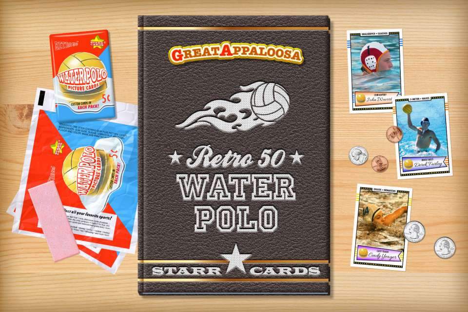 Make your own retro water polo card with Starr Cards.