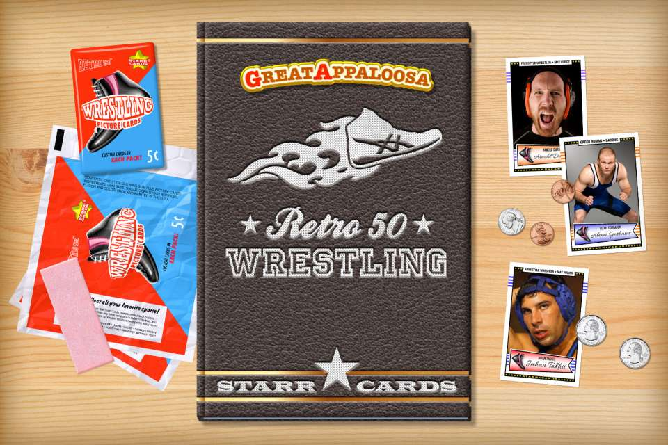 Make your own retro wrestling card with Starr Cards.