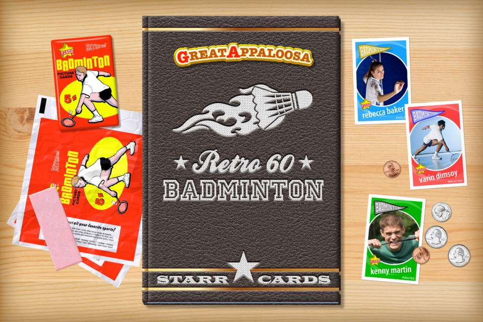 Make your own retro badminton card with Starr Cards.