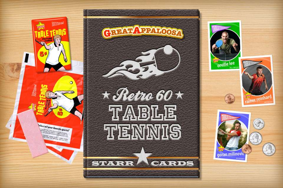 Make your own retro table tennis card with Starr Cards.