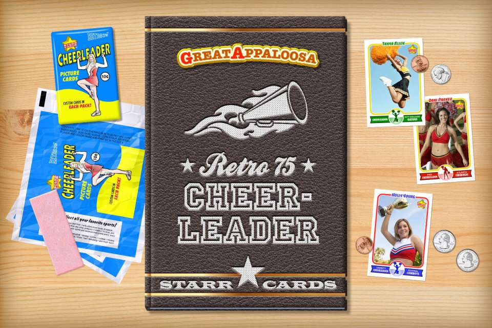 Make your own retro cheerleader card with Starr Cards.
