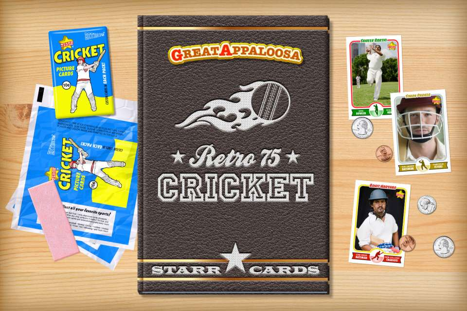 Make your own retro cricket card with Starr Cards.