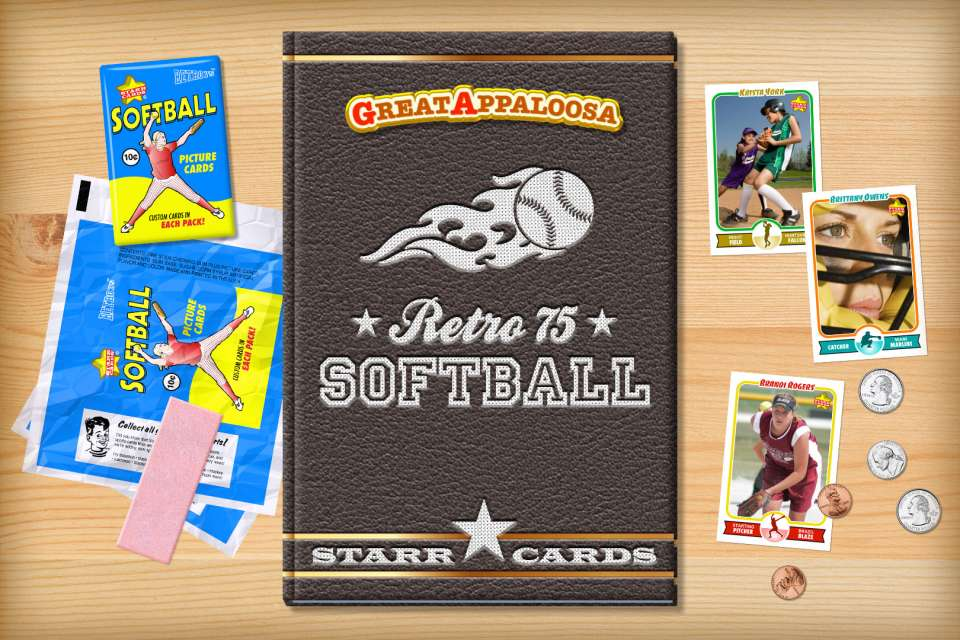 Make your own retro softball card with Starr Cards.
