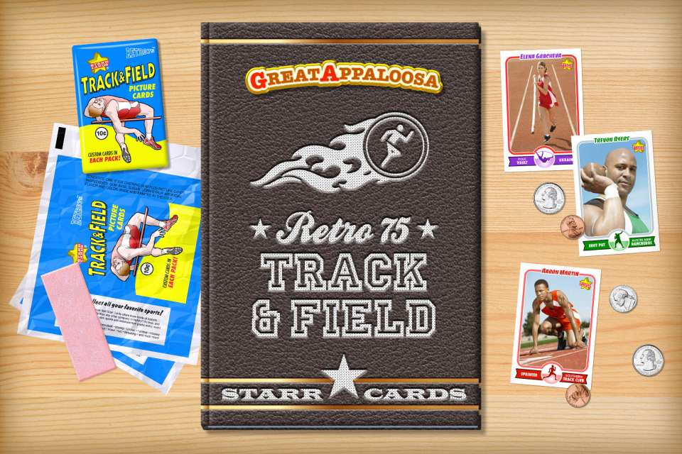 Make your own vintage track and field card with Starr Cards.