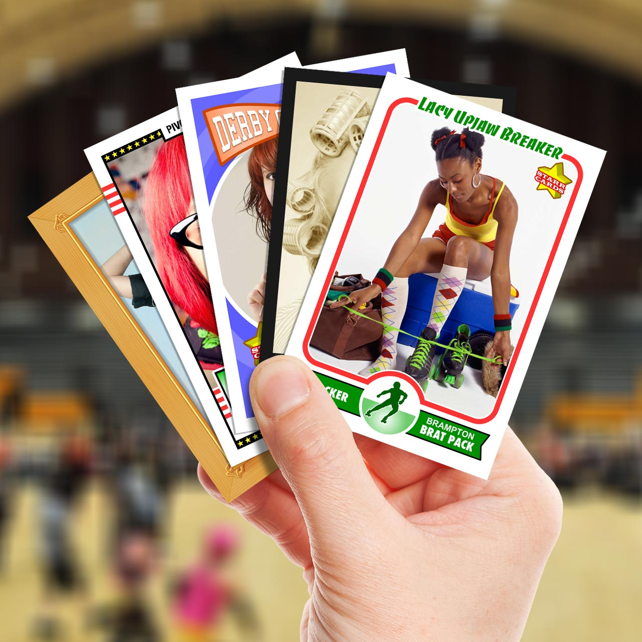 Make your own roller derby card with Starr Cards.