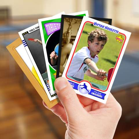 Make your own table tennis card with Starr Cards.