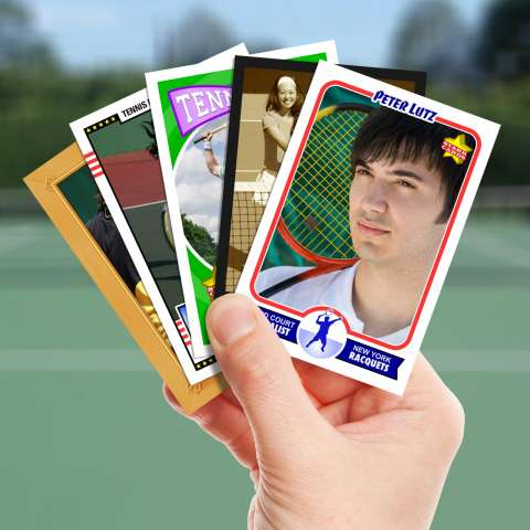 Make your own tennis card with Starr Cards.
