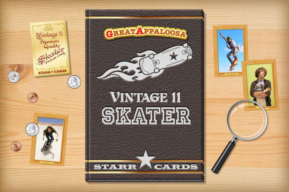Make your own vintage skater card with Starr Cards.