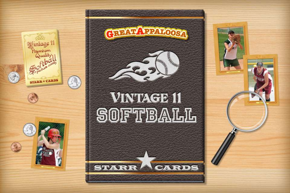 Make your own vintage softball card with Starr Cards.