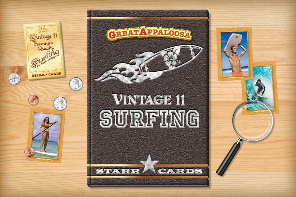Make your own vintage surfing card with Starr Cards.