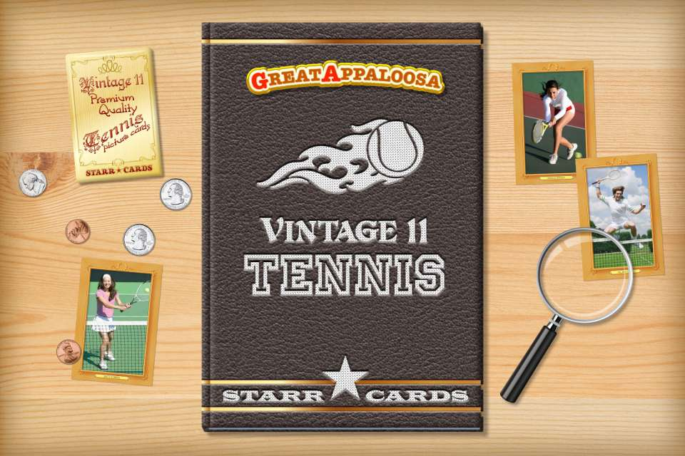 Make your own vintage tennis card with Starr Cards.