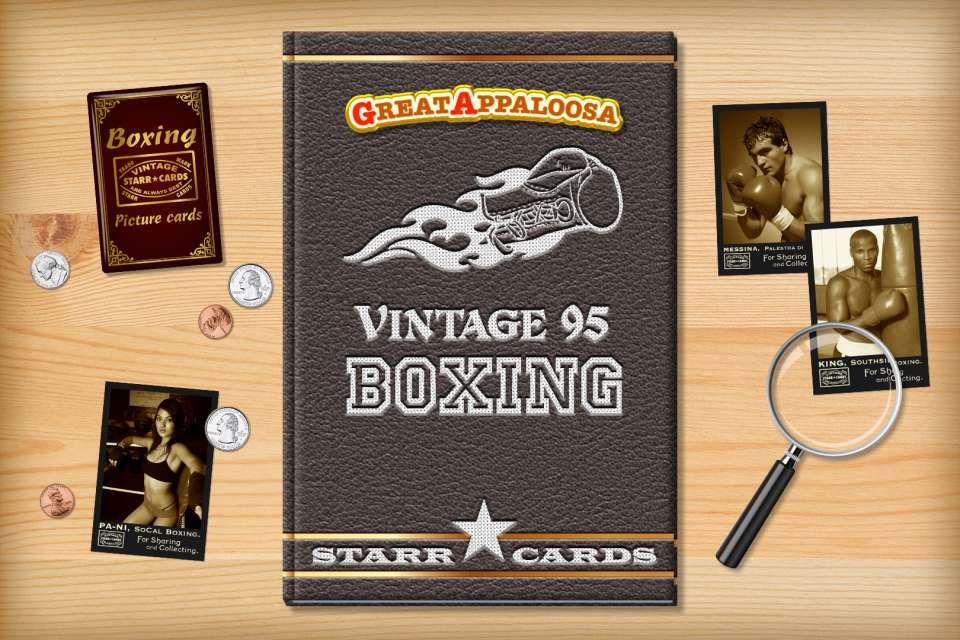 Make your own vintage boxing card with Starr Cards.