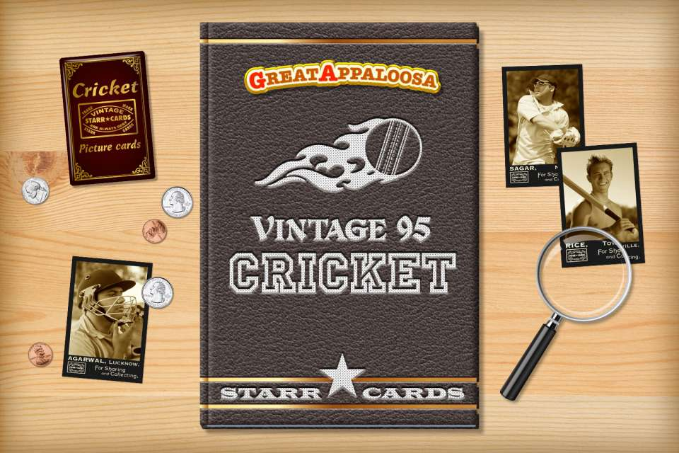 Make your own vintage cricket card with Starr Cards.