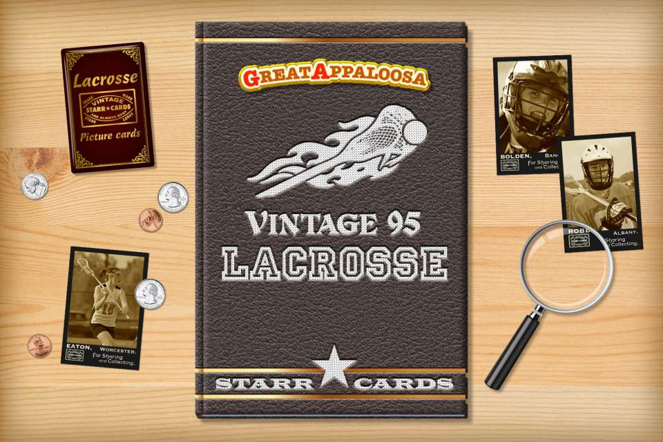Make your own vintage lacrosse card with Starr Cards.