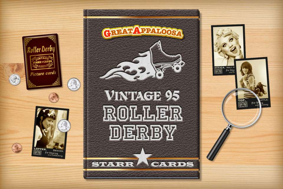 Make your own vintage roller derby card with Starr Cards.