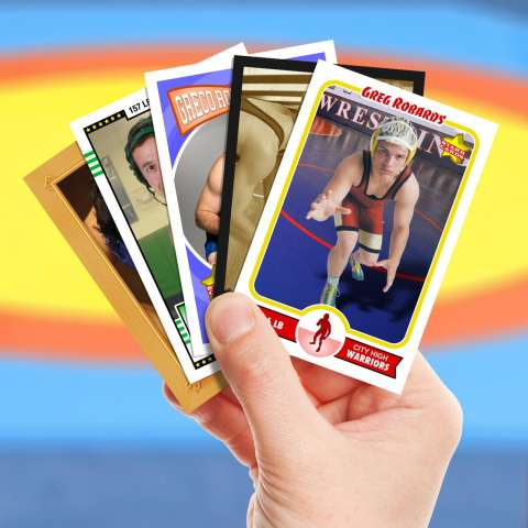 Make your own wrestling card with Starr Cards.