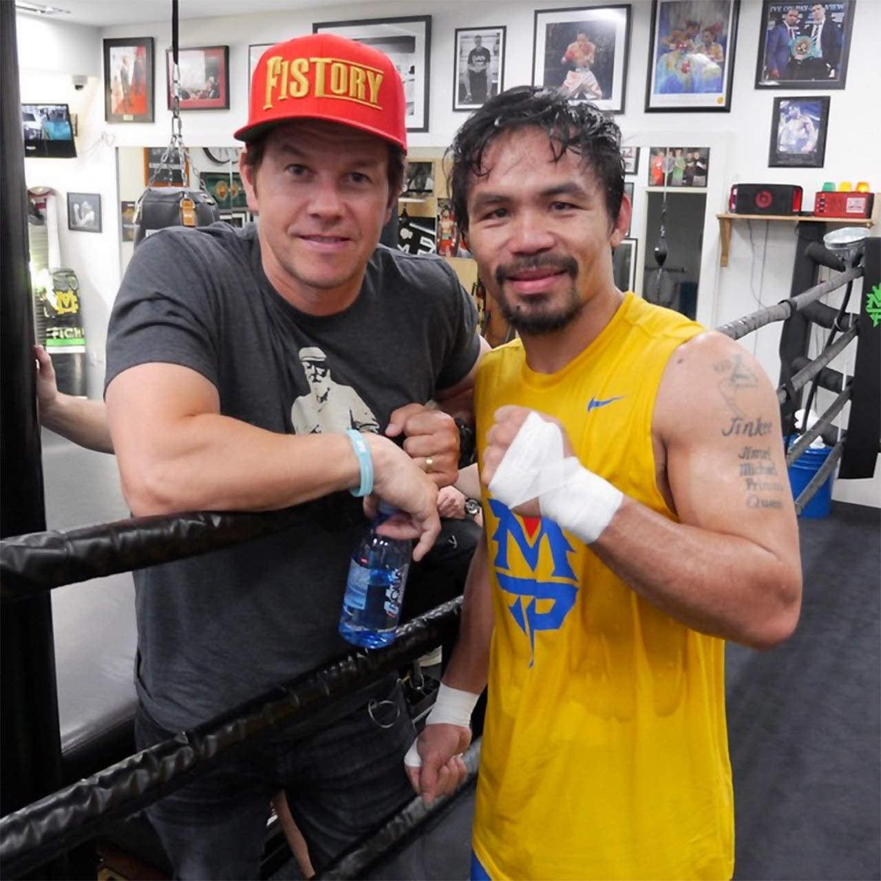 Manny Pacquiao With Mark Wahlberg