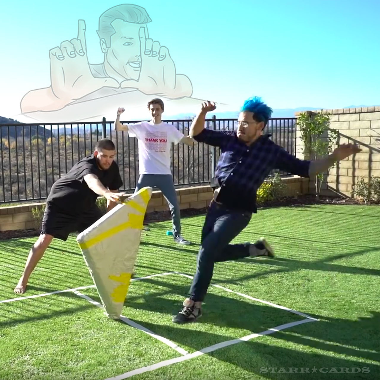 Markiplier plays giant finger football (aka paper flick football)