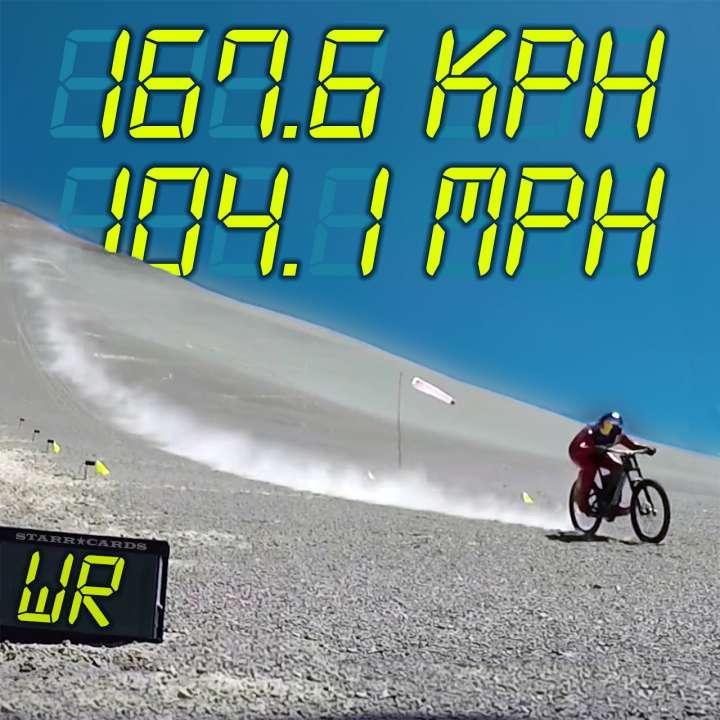 Max Stöckl sets WR for fastest MTB downhill speed at 167.6 kph (104.1 mph)
