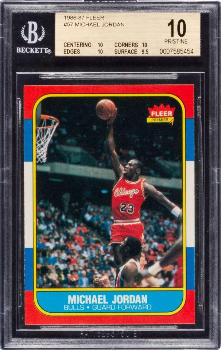 Michael Jordan 1986-87 Fleer rookie basketball card