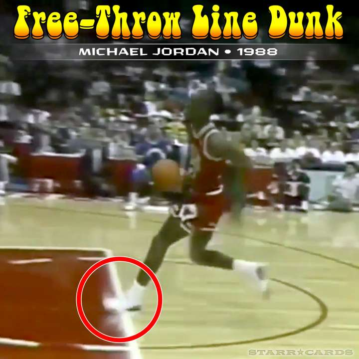 Michael Jordan : 1988 free-throw line dunk