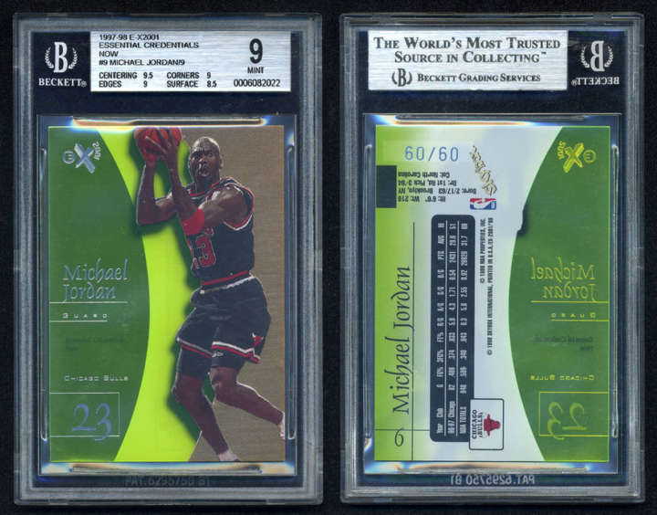Michael Jordan 1997-98 Skybox Essential Credentials Now basketball card