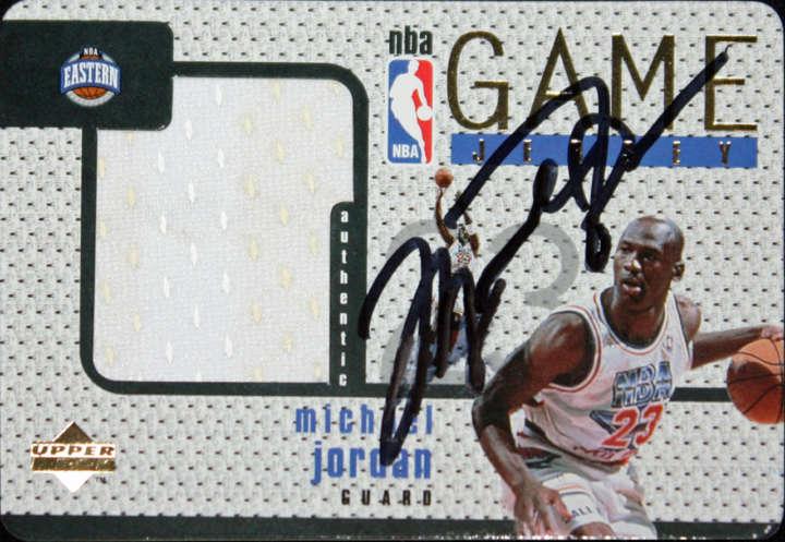 Michael Jordan 1997 Upper Deck Game Jersey Autographed basketball card