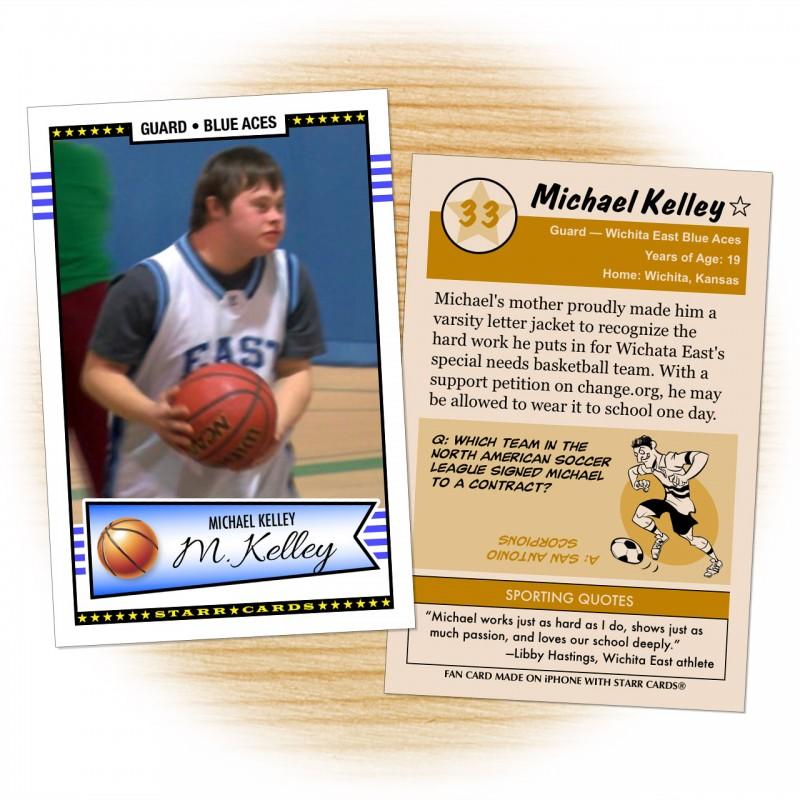 Michael Kelley Wichita East Blue Aces basketball card