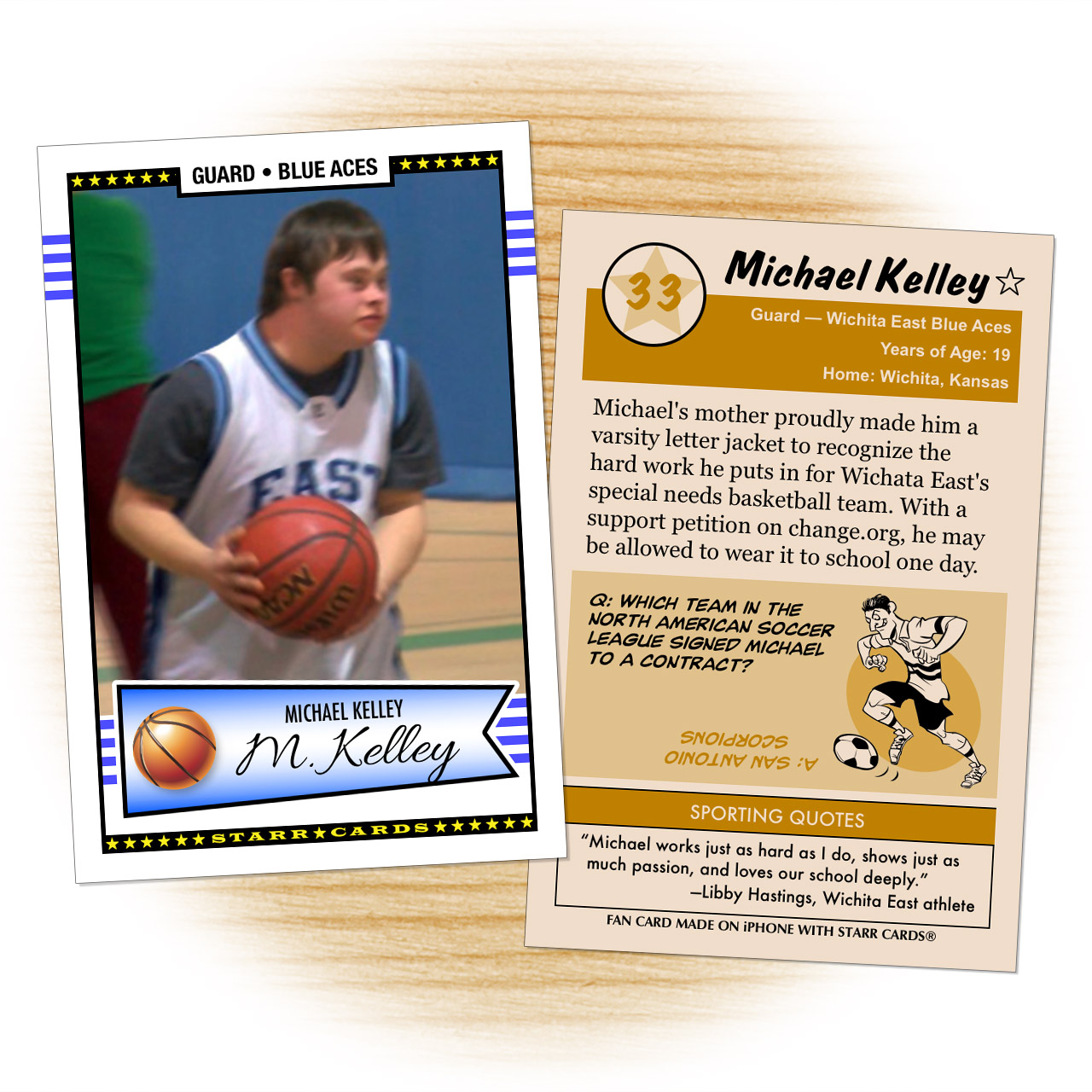 Michael Kelley Wichita East Blue Aces basketball card