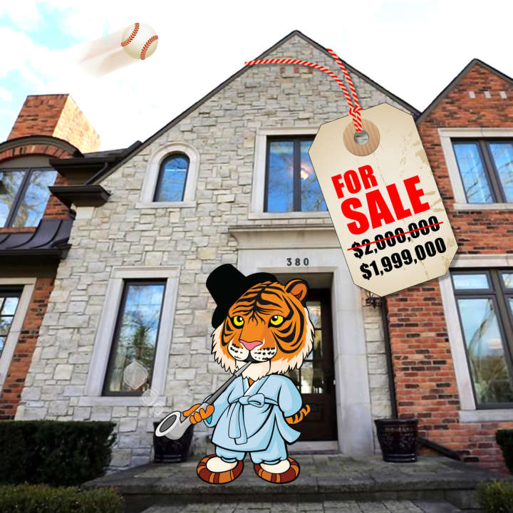 Miguel Cabrera's house for sale: Photo of front with tiger