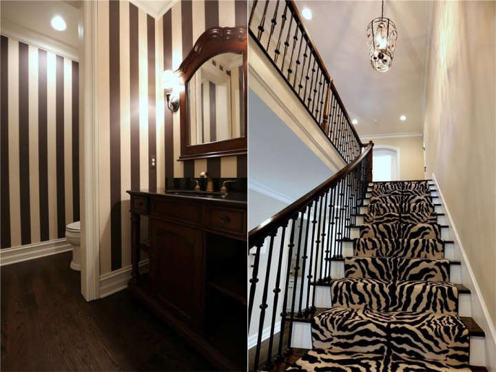 Miguel Cabrera's house for sale: Photo of half bath and stairs