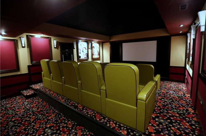 Miguel Cabrera's house for sale: Photo of home theater
