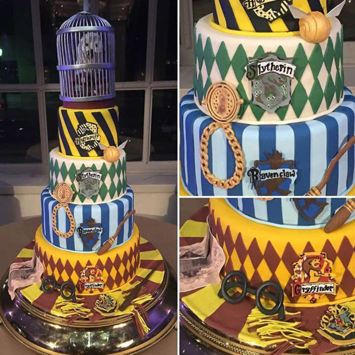 Mike Evans had a Harry Potter-themed Hogwarts cake at his wedding