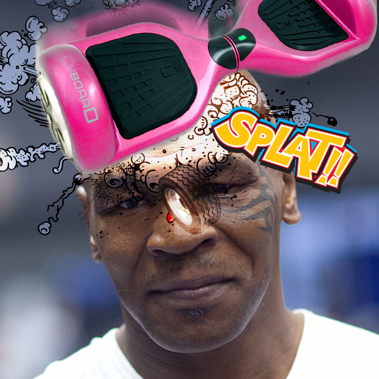 Mike Tyson gets knocked out by CyBoard