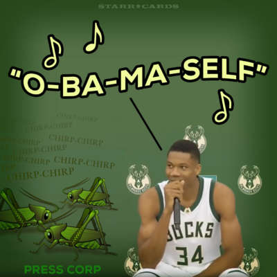 Milwaukee Bucks star Giannis Antetokounmpo makes an Obama knock knock joke