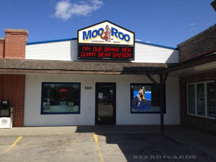 Moo Roo Ice Cream Parlor in Waterloo, Iowa
